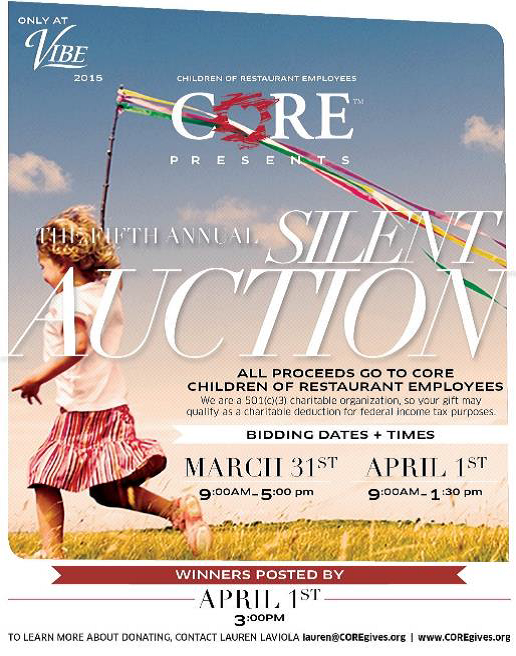 CORE and VIBE Conference Silent Auction