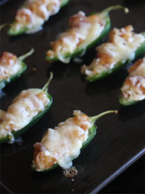 Bacon JalapeA+-o Poppers with a Cheesy Tater Tot Crust food recipe - The Hopeless Housewife