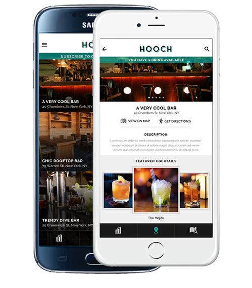 Hospitality industry and technology - HOOCH App