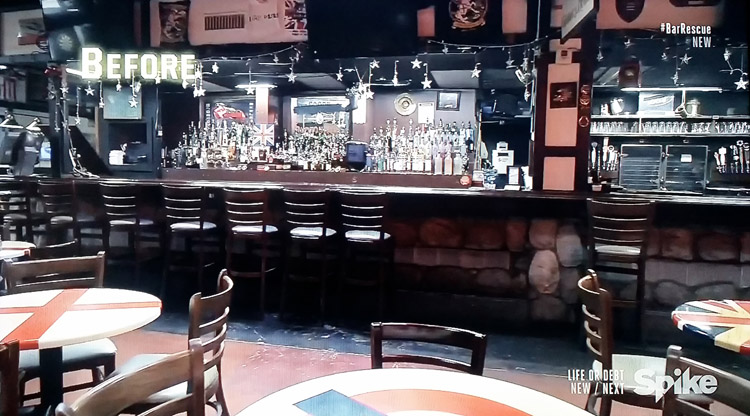 George & Dragon English pub before - Spike TV's Bar Rescue with Jon Taffer