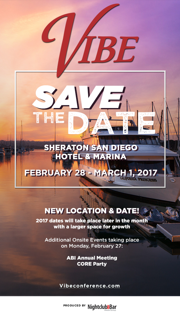 2017 VIBE Conference - February 28 to March 1, 2017 - Sheraton San Diego