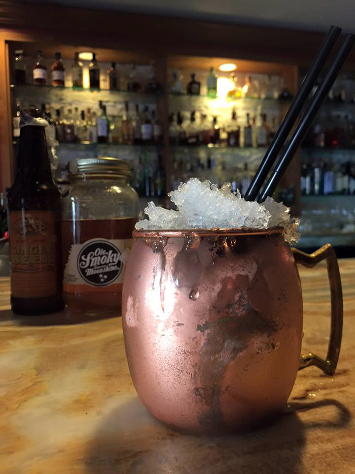 Moonshine Mule cocktail recipe - Trummer's on Main
