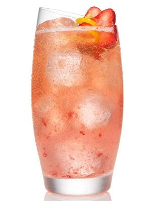 Sparkling Strawberry Lemonade - Fourth of July Cocktails