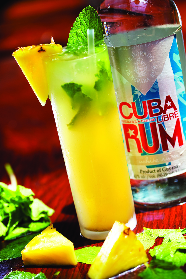 Pineapple Grilled Mojito from Cuba Libre - National Mojito Day 2016