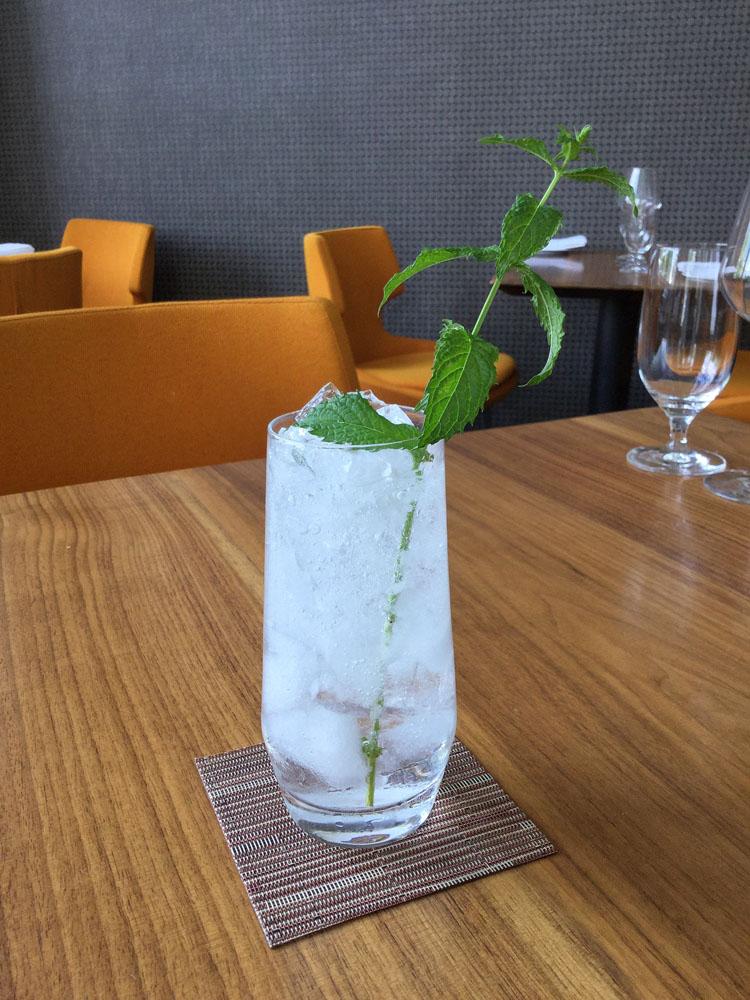 Botany Cocktail Lavender Mojito at Restaurant Serenade - National Mojito Day 2016