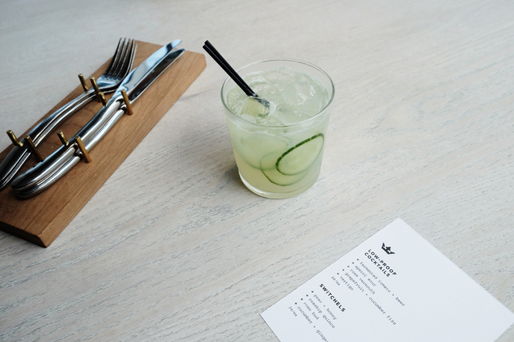Grapefruit & Cucumber Fizz from Upton 43 - White Vermouth