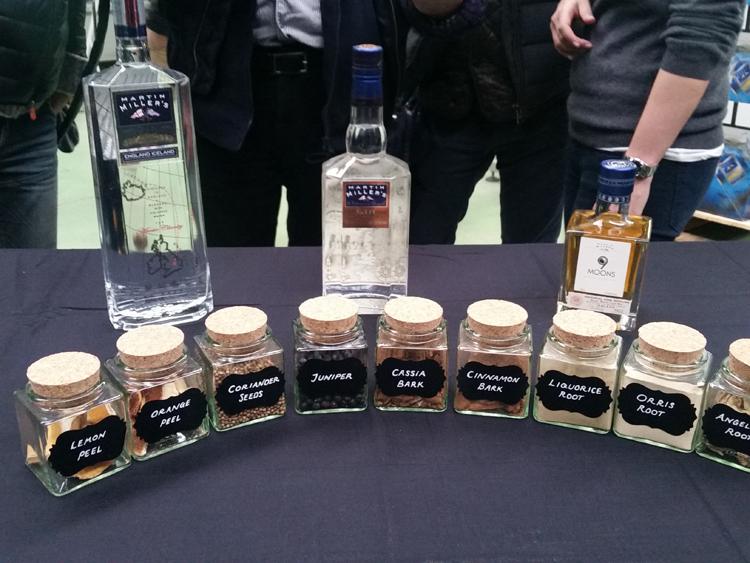 Martin Miller's lineup and botanicals - Martin Miller's Gin