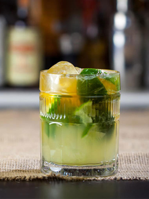 Cascadian Caipbeerinha cocktail recipe - CachaAa drink promotions