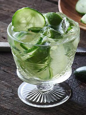 Leblon Cucumber Jalapeno Caipirinha cocktail recipe - CachaAa drink promotions