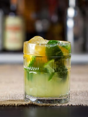 Cascadian Caipbeerinha cocktail recipe - Labor Day cocktails