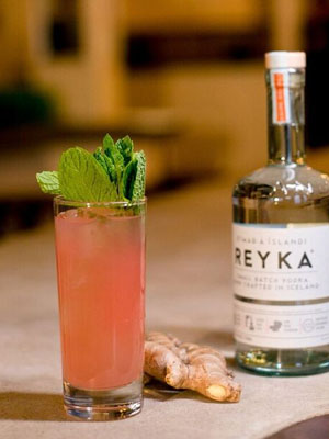 Reyka Pink Grapefruit cocktail recipe - Labor Day cocktails
