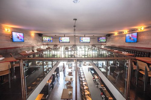 The Fifty/50 mezzanine - The Fifty/50 sports bar profile