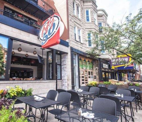 The Fifty/50 patio - The Fifty/50 sports bar profile