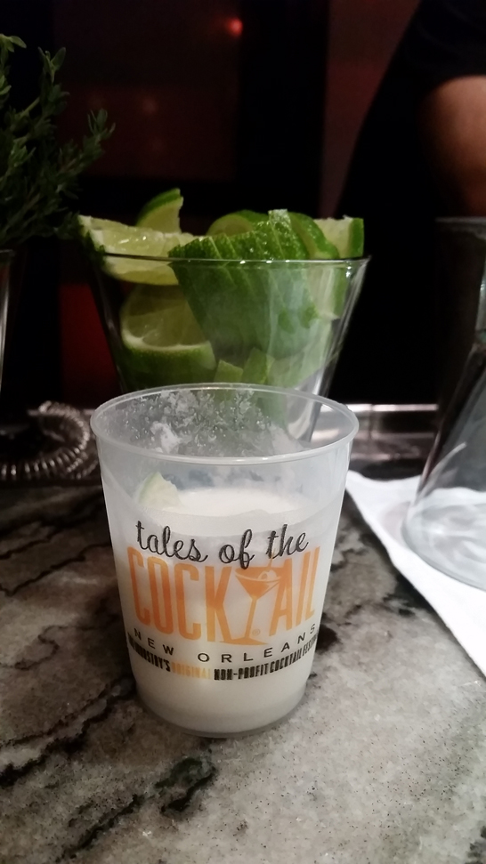 Coconut Key Lime Gimlet cocktail recipe - 2016 Tales of the Cocktail gin events