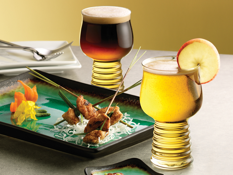 Libbey Hard Cider Glass and Taster - Libbey Foodservice