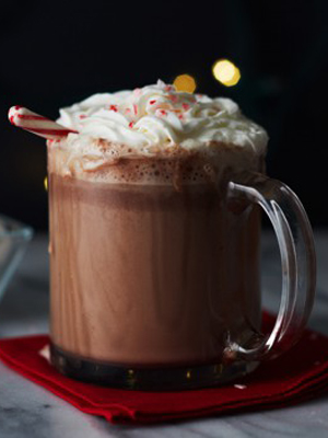 Smirnoff Peppermint Hot Chocolate cocktail recipe - 2016 National Vodka Day