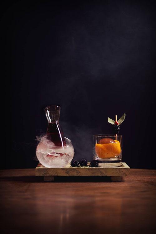 Blackberry Sage Tea Negroni cocktail recipe - Black and dark cocktails