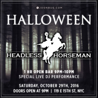 The Headless Horseman NYC Halloween 2016 - Halloween promotions