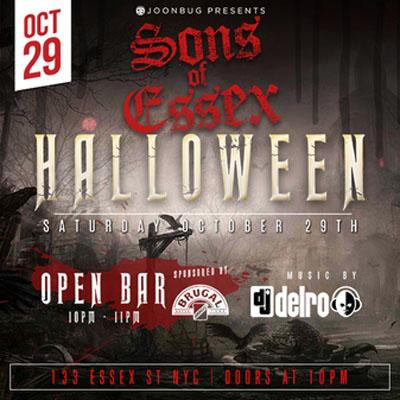 Sons of Essex NYC Dia de los Muertos - Halloween promotions
