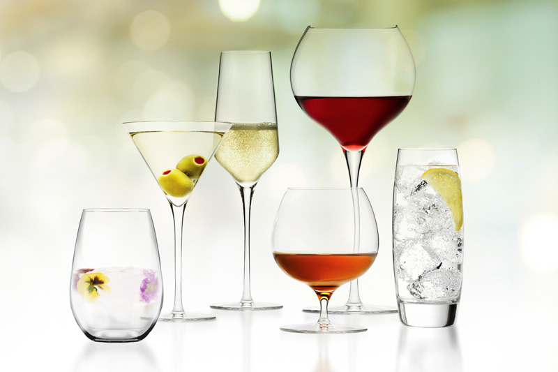 Libbey Foodservice Master's Reserve Luxe Lineup - Holiday beverage presentation