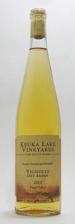 2014 Keuka Lake Vineyards Dry Amber Vignoles - Orange wines