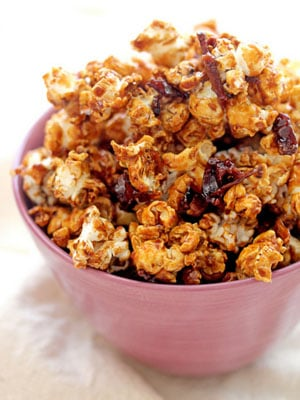 Bacon Caramel Popcorn recipe - National Happy Hour Day food and cocktail recipes