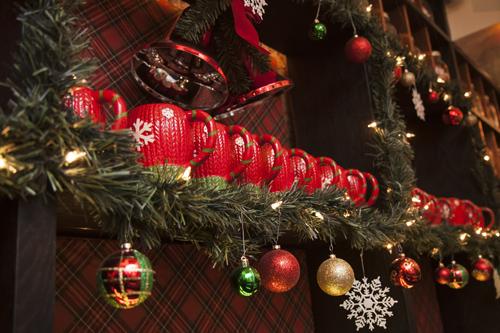 Miracle at Mace pop-up bar holiday decorations