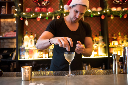 Miracle at Mace pop-up bar Gimlet cocktail