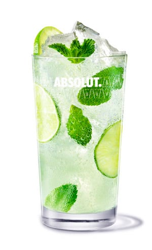 Absolut Lime - Absolut Lime Vojito cocktail recipe