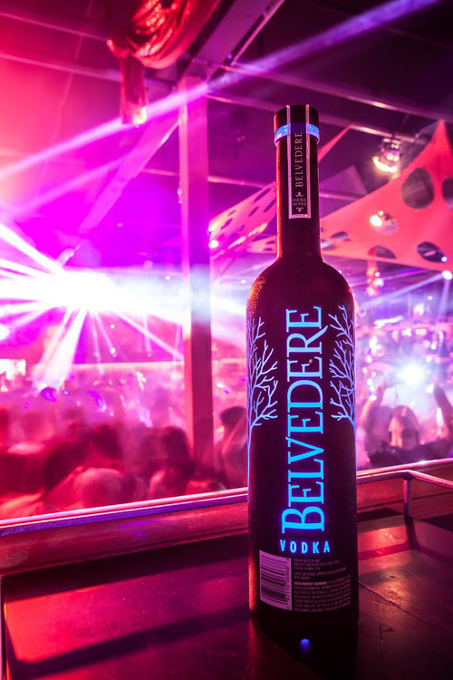 Midnight Saber illuminated soft touch bottle - Belvedere Vodka