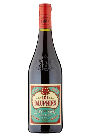 2015 Les Dauphins Organic CAtes du RhAne Villages Rouge - CAtes du RhAne wine