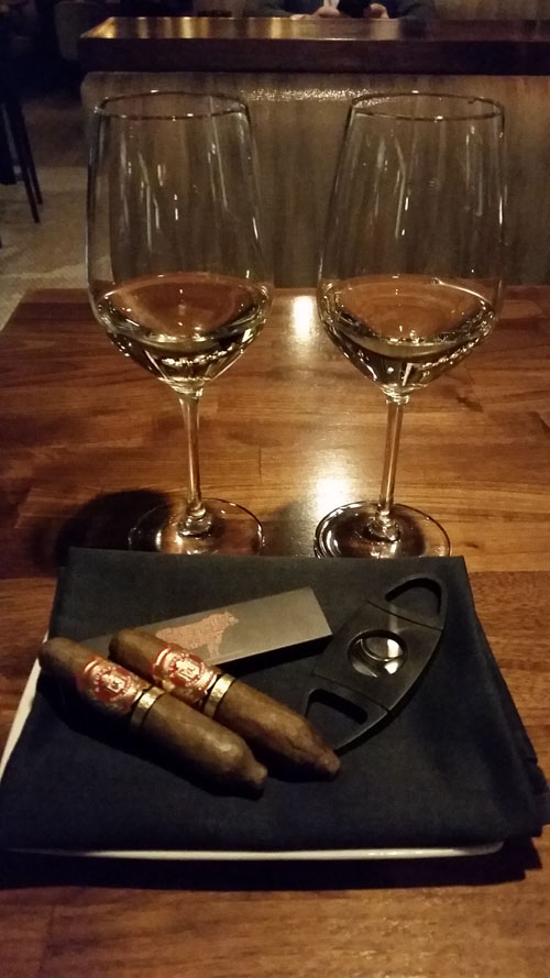 Arturo Fuente Hemingway Short Story cigars paired with Sancerre - Bourbon Steak in Washington, DC