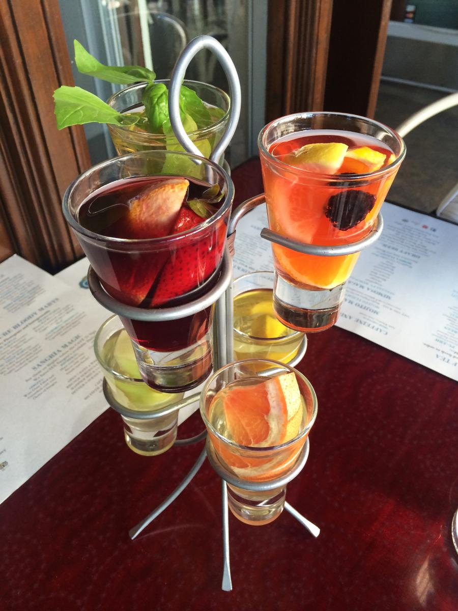 Sangria Flight from Cafe 21 in San Diego