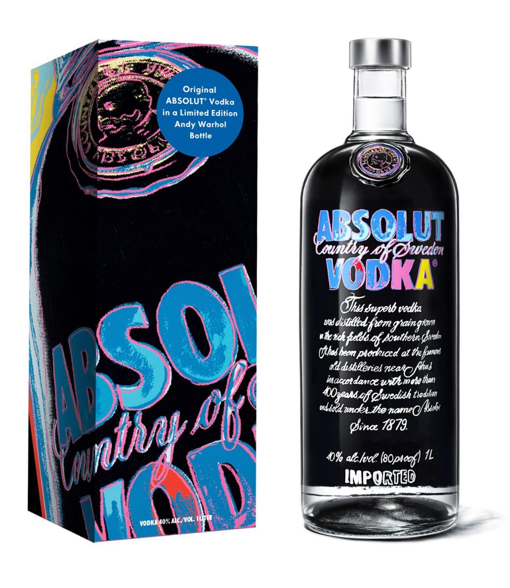 Absolut Vodka Launches Limited Edition Andy Warhol Bottle