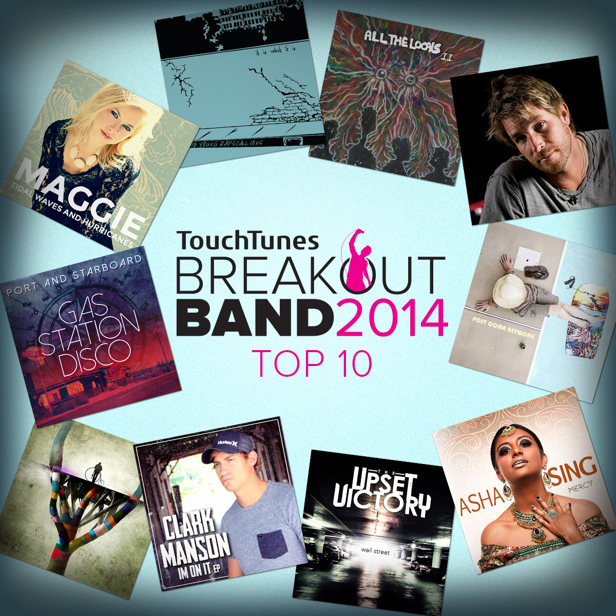 TouchTunes Breakout Band 2014 Competition Releases Top 10 Finalists