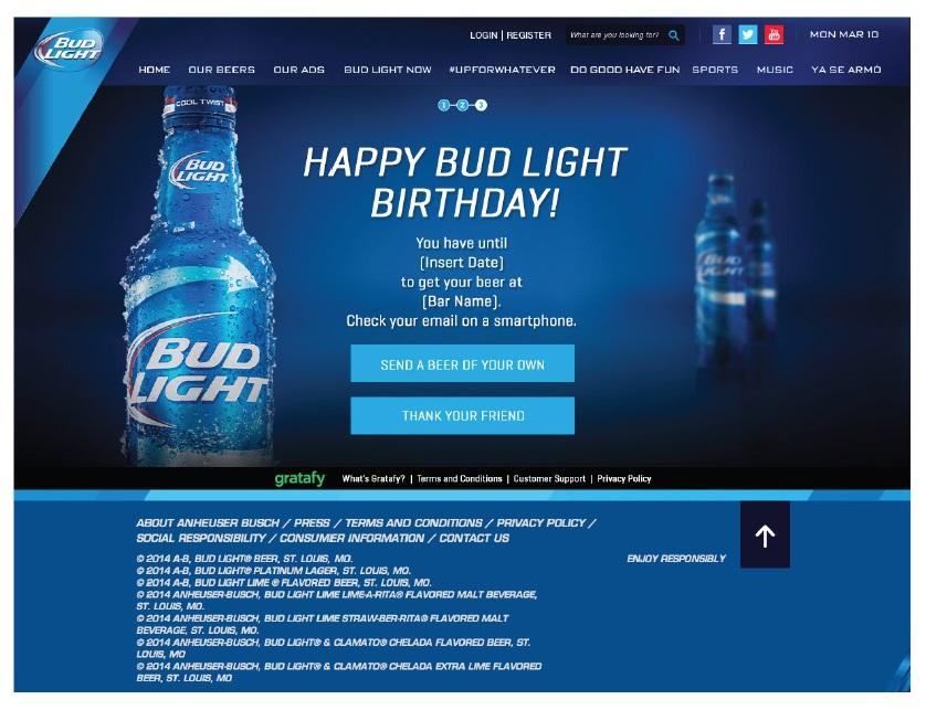 Happy Bud Light Birthday