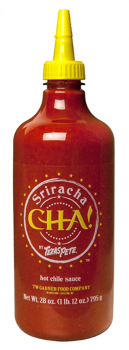 CHA! by Texas Pete Sriracha Sauce Now in 28 oz. Containers