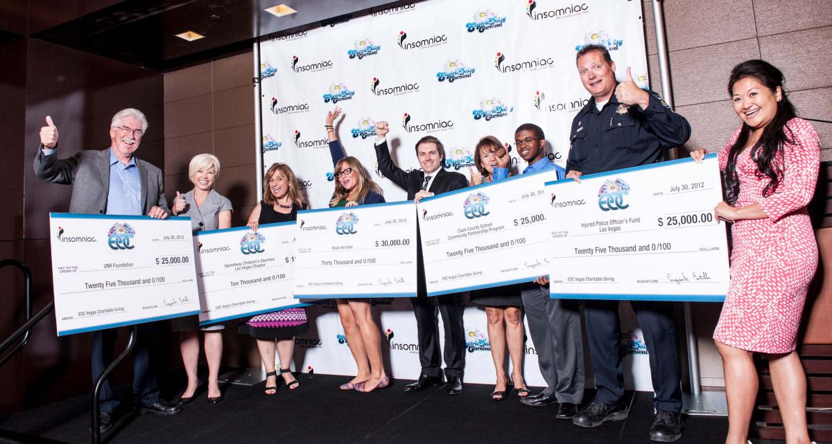 Electric Daisy Carnival Check Presentation