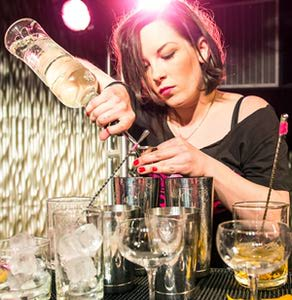 Bartender at Speed Rack Competition