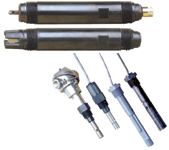 Figure 3. A variety of packaging options enhances the flexibility of the modular sensor approach. Those shown here are specificially for pH and conductivity measurements.
