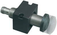 Figure 2. Cushioned mounting brackets are a popular means of protecting sensors against target impacts.
