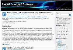 Spectral Emissivity & Emittance site