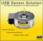 Pancake Load Cell with USB Output from FUTEK