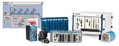Figure 2. PACs provide hardware and software flexibility, integrating machine vision, motion, and high-speed analog I/O with advanced software functionality.