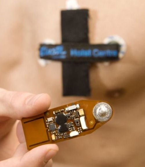 Figure 2. Example of a BAN: a wireless ECG patch, developed at Holst Centre/IMEC