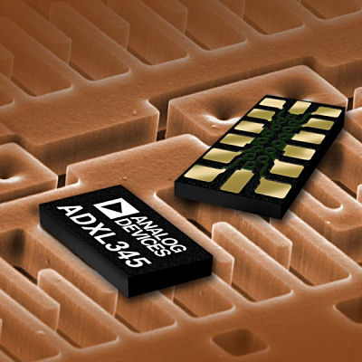 Figure 1. Analog Devices' ADXL345 three-axis digital iMEMS accelerometer
