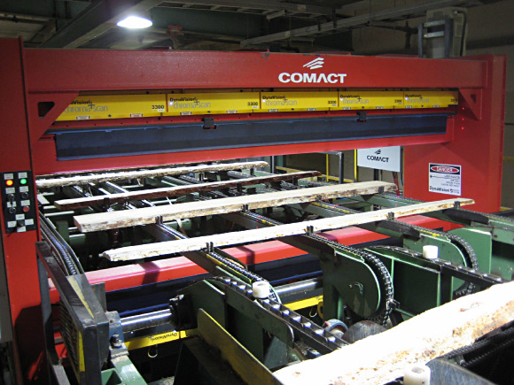 Figure 4. chroma+scan 3300 sensors inspecting boards (Photo courtesy of Comact Equipment Inc, (Saint-Georges, QC, Canada)