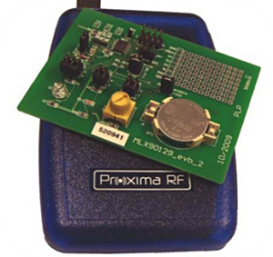 Figure 5. The DVK90129 RFID Sensor Kit includes a desktop reader, evaluation board and software. The EVB90129 evaluation board is populated with a temperature, light sensor, and potentiometer