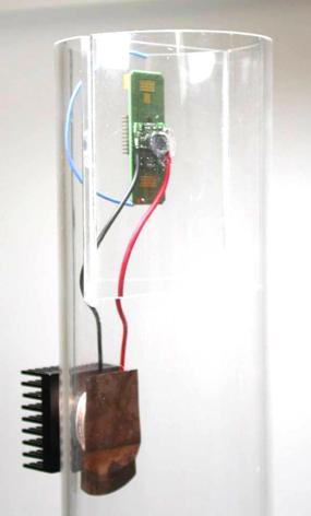 Figure 3. Energy-autonomous sensor for airflow temperature