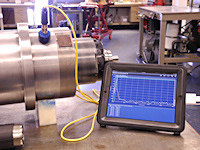 The iPad vibration analyzer from GTI Spindle Technology